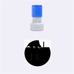 Halloween black witch Rubber Round Stamps (Small)
