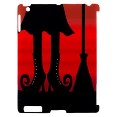 Halloween black witch Apple iPad 2 Hardshell Case (Compatible with Smart Cover)