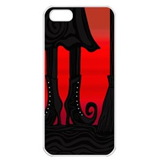 Halloween black witch Apple iPhone 5 Seamless Case (White)