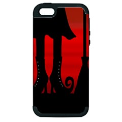Halloween black witch Apple iPhone 5 Hardshell Case (PC+Silicone)