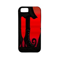Halloween black witch Apple iPhone 5 Classic Hardshell Case (PC+Silicone)