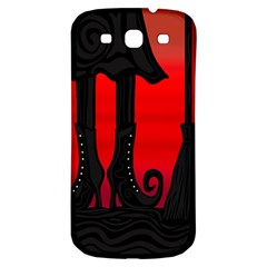 Halloween black witch Samsung Galaxy S3 S III Classic Hardshell Back Case