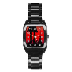 Halloween Black Witch Stainless Steel Barrel Watch