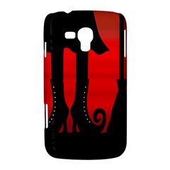 Halloween black witch Samsung Galaxy Duos I8262 Hardshell Case