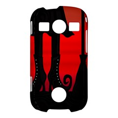 Halloween black witch Samsung Galaxy S7710 Xcover 2 Hardshell Case