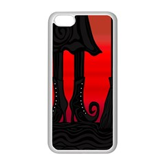 Halloween black witch Apple iPhone 5C Seamless Case (White)