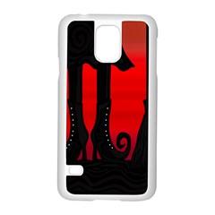 Halloween black witch Samsung Galaxy S5 Case (White)