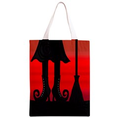 Halloween black witch Classic Light Tote Bag