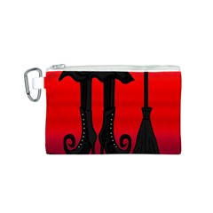 Halloween black witch Canvas Cosmetic Bag (S)