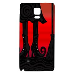 Halloween black witch Galaxy Note 4 Back Case