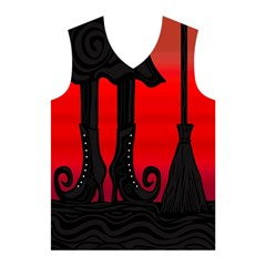 Halloween black witch Men s Basketball Tank Top