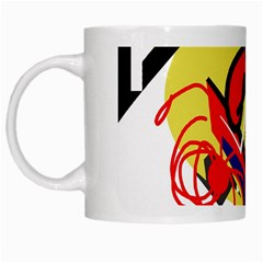 Abstract Art White Mugs