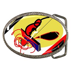 Abstract art Belt Buckles