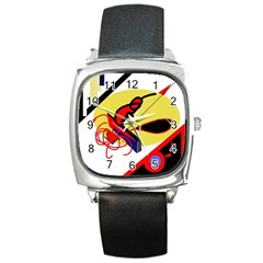 Abstract art Square Metal Watch
