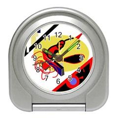 Abstract art Travel Alarm Clocks
