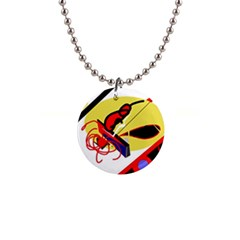 Abstract art Button Necklaces