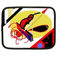 Abstract art Netbook Case (XL)