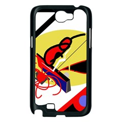 Abstract art Samsung Galaxy Note 2 Case (Black)