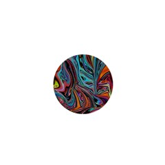 Brilliant Abstract In Blue, Orange, Purple, And Lime Green  1  Mini Magnets