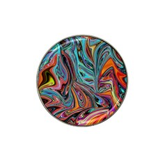 Brilliant Abstract In Blue, Orange, Purple, And Lime Green  Hat Clip Ball Marker (10 Pack)