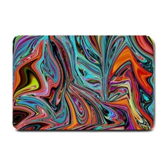 Brilliant Abstract in Blue, Orange, Purple, and Lime-Green  Small Doormat