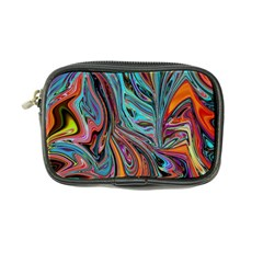 Brilliant Abstract in Blue, Orange, Purple, and Lime-Green  Coin Purse