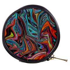 Brilliant Abstract in Blue, Orange, Purple, and Lime-Green  Mini Makeup Bags
