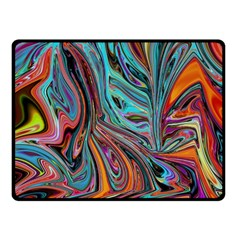 Brilliant Abstract in Blue, Orange, Purple, and Lime-Green  Fleece Blanket (Small)