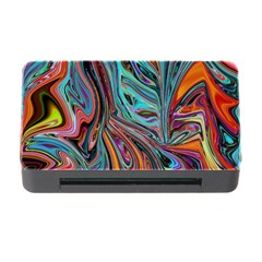 Brilliant Abstract In Blue, Orange, Purple, And Lime Green  Memory Card Reader With Cf