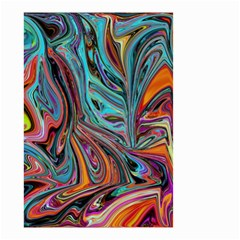 Brilliant Abstract In Blue, Orange, Purple, And Lime Green  Small Garden Flag (two Sides)