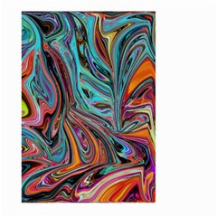 Brilliant Abstract In Blue, Orange, Purple, And Lime Green  Large Garden Flag (two Sides)