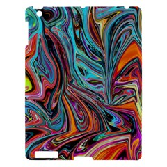 Brilliant Abstract In Blue, Orange, Purple, And Lime Green  Apple Ipad 3/4 Hardshell Case