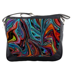 Brilliant Abstract in Blue, Orange, Purple, and Lime-Green  Messenger Bags