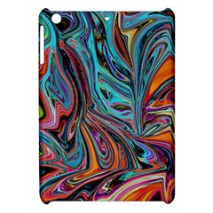 Brilliant Abstract In Blue, Orange, Purple, And Lime Green  Apple Ipad Mini Hardshell Case