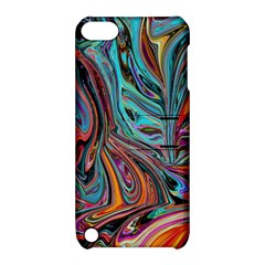 Brilliant Abstract In Blue, Orange, Purple, And Lime Green  Apple Ipod Touch 5 Hardshell Case With Stand