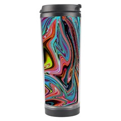 Brilliant Abstract In Blue, Orange, Purple, And Lime Green  Travel Tumbler