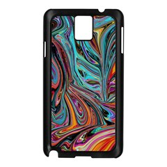 Brilliant Abstract In Blue, Orange, Purple, And Lime Green  Samsung Galaxy Note 3 N9005 Case (black)