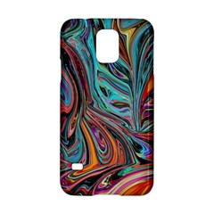 Brilliant Abstract In Blue, Orange, Purple, And Lime Green  Samsung Galaxy S5 Hardshell Case