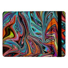 Brilliant Abstract in Blue, Orange, Purple, and Lime-Green  Samsung Galaxy Tab Pro 12.2  Flip Case