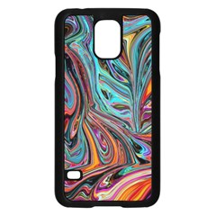 Brilliant Abstract In Blue, Orange, Purple, And Lime Green  Samsung Galaxy S5 Case (black)