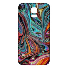 Brilliant Abstract In Blue, Orange, Purple, And Lime Green  Samsung Galaxy S5 Back Case (white)