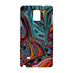 Brilliant Abstract In Blue, Orange, Purple, And Lime Green  Samsung Galaxy Note 4 Hardshell Case