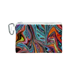 Brilliant Abstract In Blue, Orange, Purple, And Lime Green  Canvas Cosmetic Bag (s)