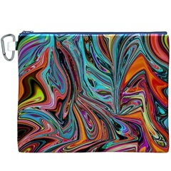 Brilliant Abstract In Blue, Orange, Purple, And Lime Green  Canvas Cosmetic Bag (xxxl)
