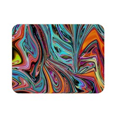 Brilliant Abstract In Blue, Orange, Purple, And Lime Green  Double Sided Flano Blanket (mini)