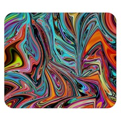 Brilliant Abstract In Blue, Orange, Purple, And Lime Green  Double Sided Flano Blanket (small)