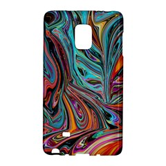 Brilliant Abstract in Blue, Orange, Purple, and Lime-Green  Galaxy Note Edge