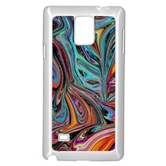 Brilliant Abstract In Blue, Orange, Purple, And Lime Green  Samsung Galaxy Note 4 Case (white)