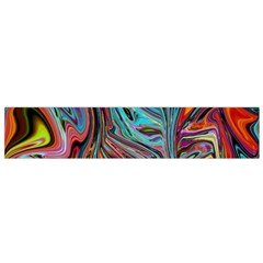 Brilliant Abstract in Blue, Orange, Purple, and Lime-Green  Flano Scarf (Small)