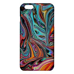Brilliant Abstract in Blue, Orange, Purple, and Lime-Green  iPhone 6 Plus/6S Plus TPU Case